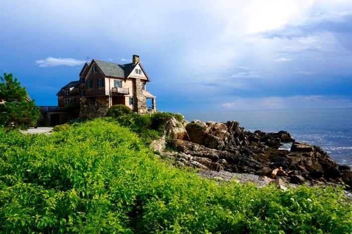 House on the rocky Maine coast Kennebunkport, Maine