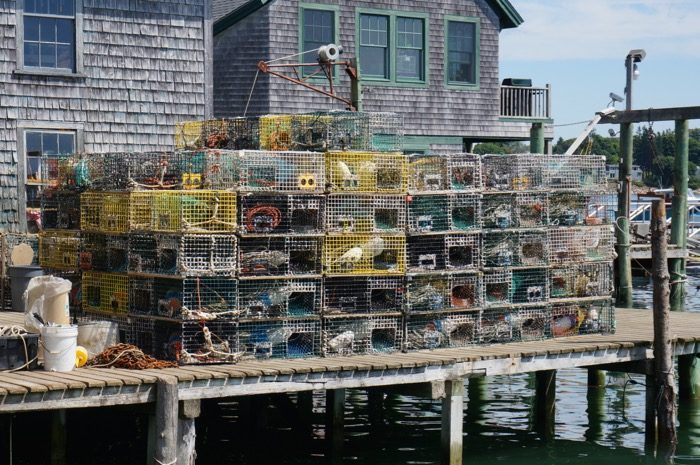lobster traps outsid Thurston's Lobster Pound photo by Kathy Miller