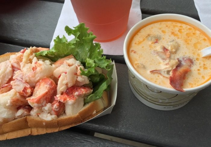 Lobster Roll and Lobster Bisque at Thurston's Lobster Pound photo by Kathy Miller