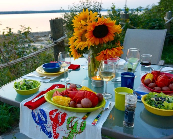Maine Lobster Boil, from Trenton's at our Mermaid Cottage photo by Kathy Miller