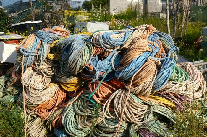 Rope for working fishermen and lobstermen photo by Kathy Miller