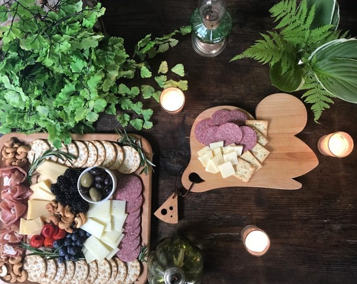 2 cheese boards for the 4th of July with a cute Vermont made mouse board photo by Kathy Miller