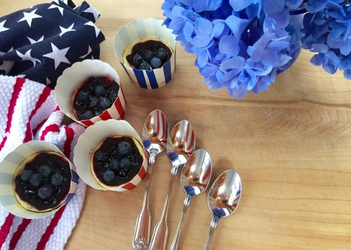 Mini Blueberry Cheesecake cups photo by Kathy Miller