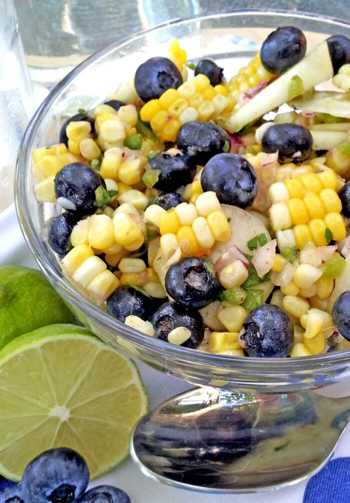 Blueberry and Corn Salad photo via Pinterest