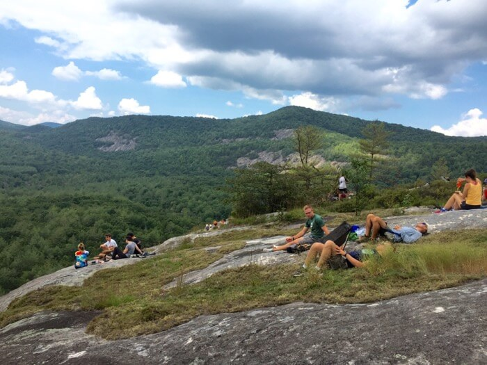 View looking at Salt Rock Gap and Black Mountain from Little Green Mountain photo by Kathy Miller
