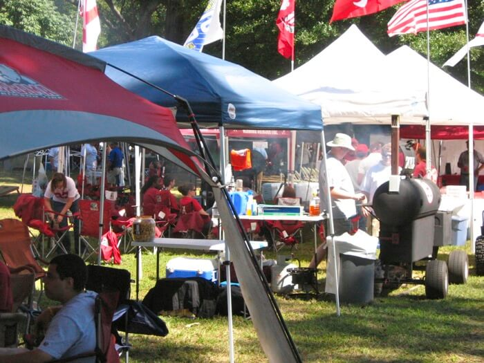 Alabama fan and his BBQ photo by Kathy Miller