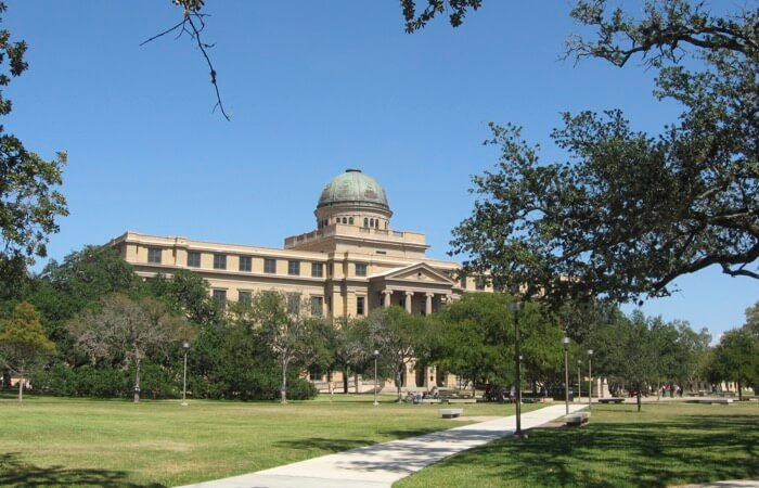 Texas A&M Academic Building photo by Kathy Miller