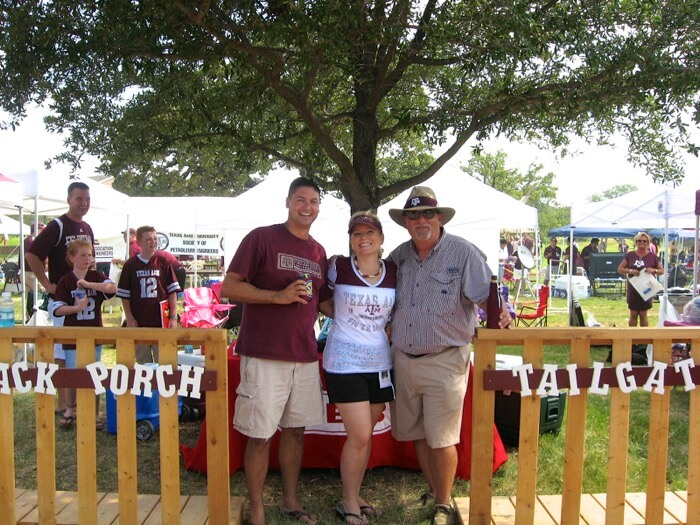 Back Porch Tailgate at Texas A&M photo by Kathy Miller
