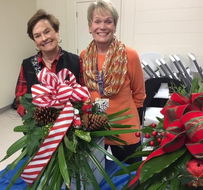 Sylvie Baxter and Carol Ann Atwood mailbox decorating class