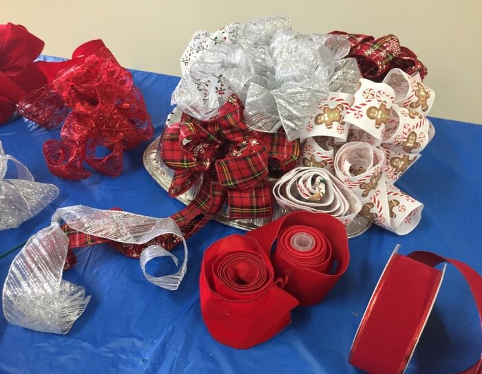Ribbons for Bow making photo by Kathy Miller