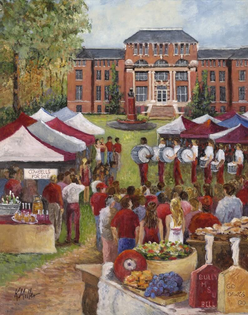 Tailgating At The Junction print by Kathy Miller