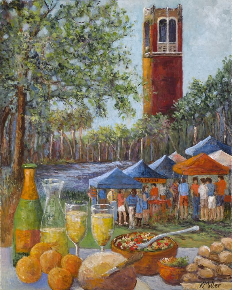 Tailgating In The Swamp print by Kathy Miller