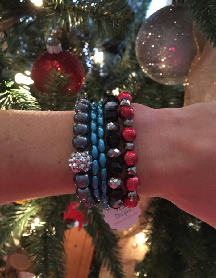 Holiday Sparkle Stack of 5 Bracelets