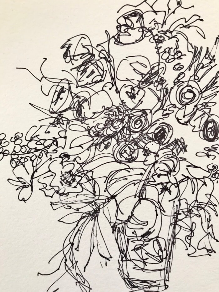 Opposites Attract Pen and Ink Drawing by Kathy Miller