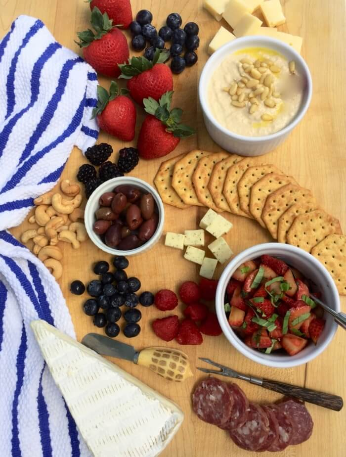 Fruit and Cheese board photo by Kathy Miller