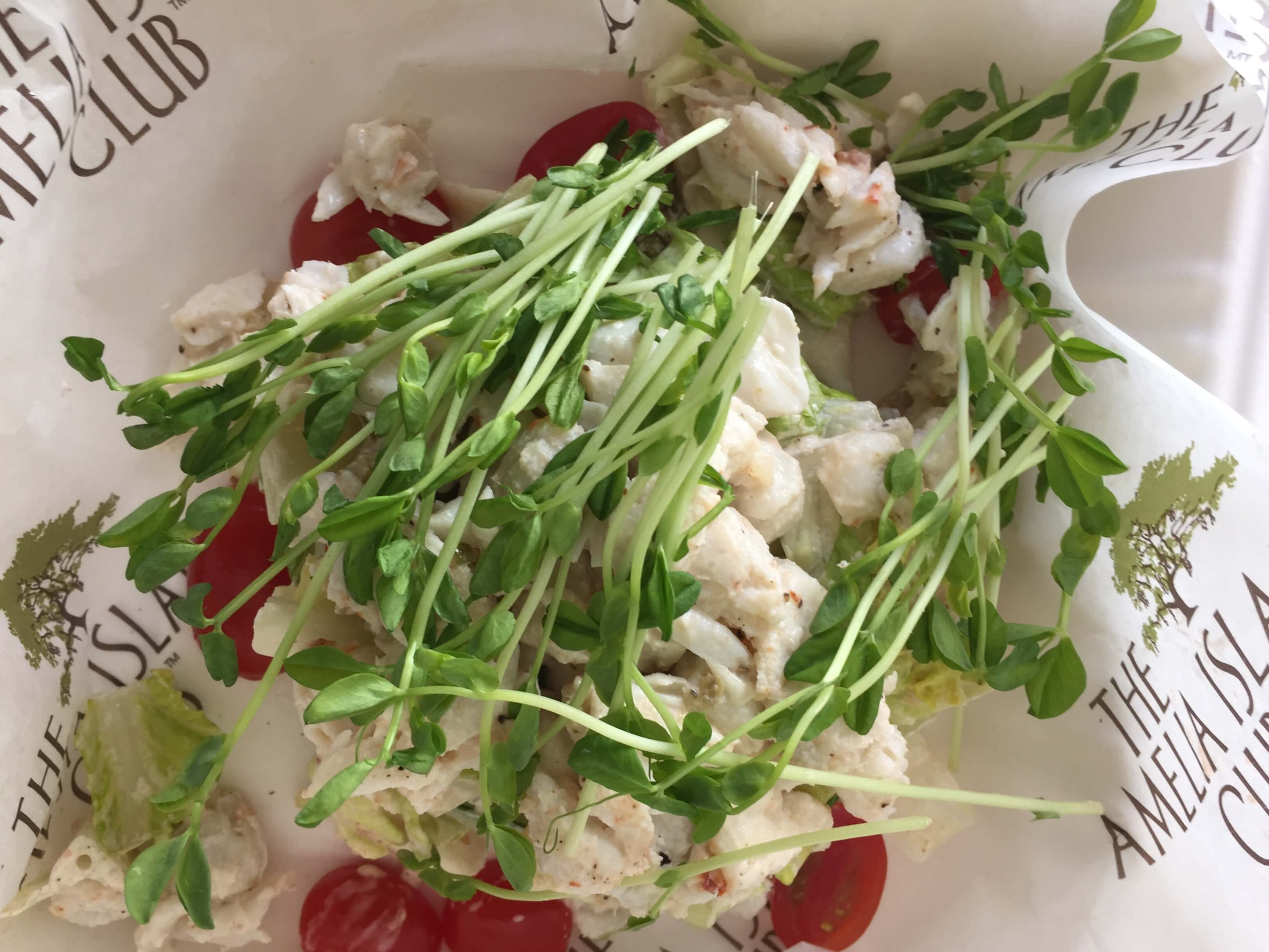 Lump Crab Salad from the Amelia Island Club photo by Kathy Miller