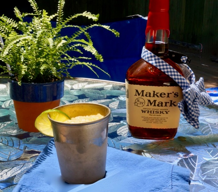 Bourbon Slushy in a mint julep cup photo by Kathy Miller