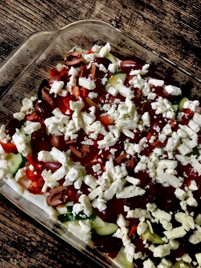 Greek 7 Layer Salad 2 photo by Kathy Miller