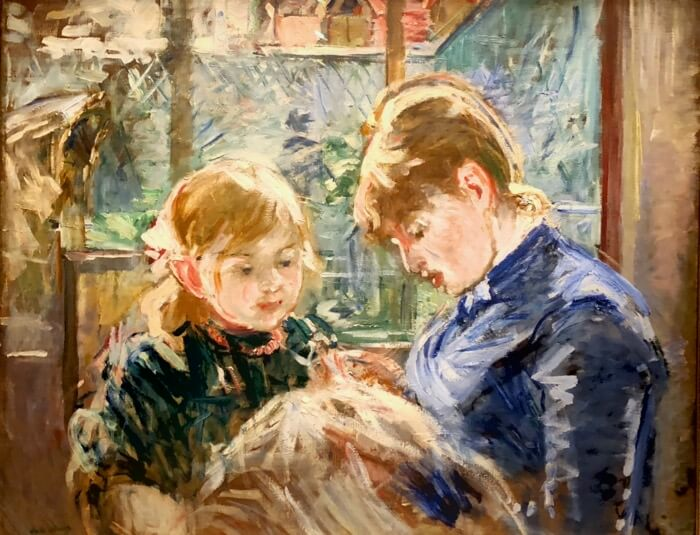Berthe Morisot-The Artist's Daughter, Julie with her Nanny photo by Kathy Miller