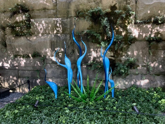 Blues- Pergola Garden Fiori-Chihuly at Biltmore photo by Kathy Miller