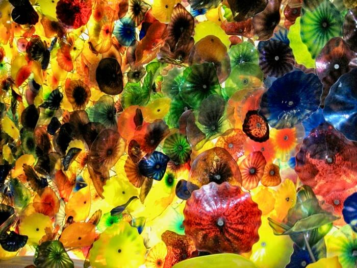 Chihuly Ceiling in The Bellagio Hotel lobby, Las Vegas by Dale Chihuly photo by Kathy Miller