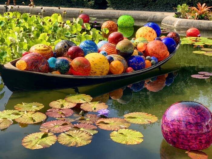 Float Boat-3 Chihuly at Biltmore photo by Kathy Miller