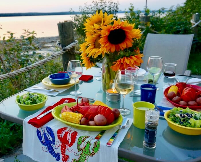 Maine Lobster Boil, Mermaid Cottage in Maine photo by Kathy Miller