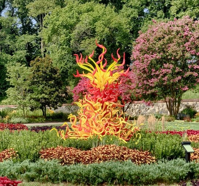 Paintbrush Tower 2014- Chihuly at Biltmore photo by Kathy Miller