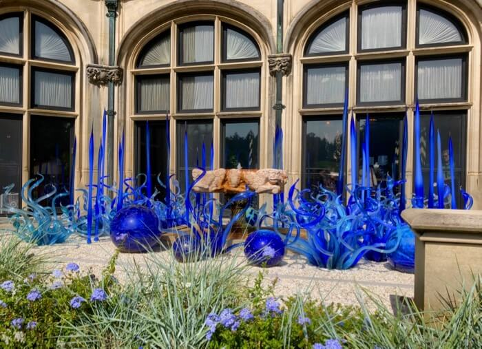 Sky Blue and Cobalt Fiori-Chihuli at Biltmore photo by Kathy Miller
