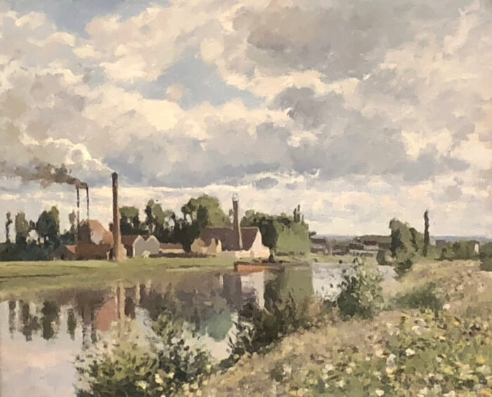 Camille Pissarro-The River Oisa near Pontoise photo by Kathy Miller
