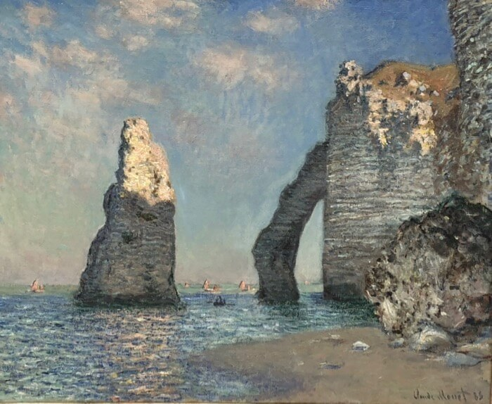 Claude Monet-The Cliffs at Etretat