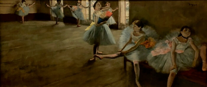 Edgar Degas-Dancers in the Classroom photo by Kathy Miller