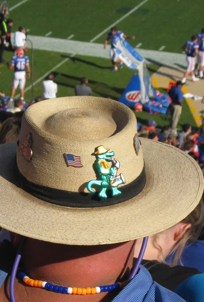 Another Florida/Georgia game...Gator hat photo by Kathy Miller