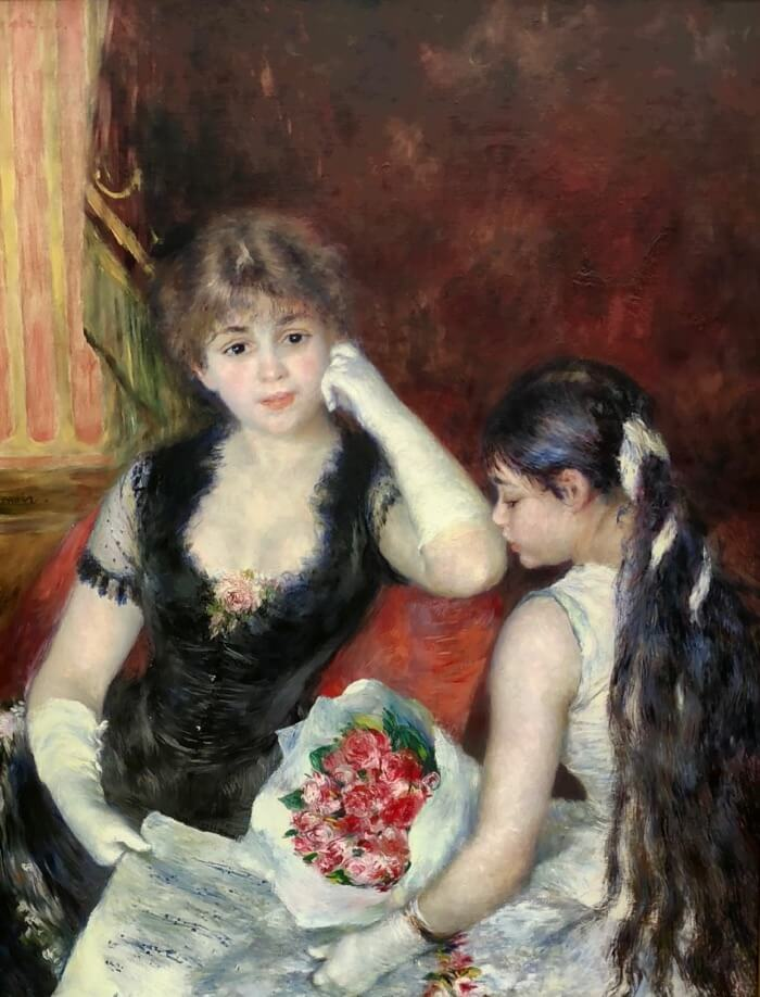 Pierre-August Renoir- A Box at the Theater photo by Kathy Miller