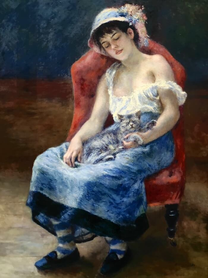Pierre-Auguste Renoir-Sleeping Girl photo by Kathy Miller