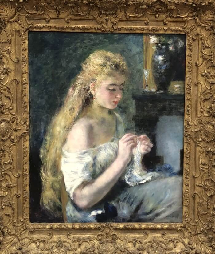 Pierre-Auguste Renoir-Woman Crocheting