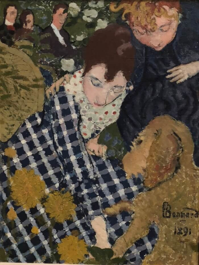 Pierre Bonnard-Women with a Dog photo by Kathy Miller