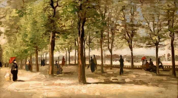 Vincent van Gogh- Terrace in the Luxembourg Gardens