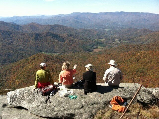 Fall Hike in NC mountains photo by Kathy Miller