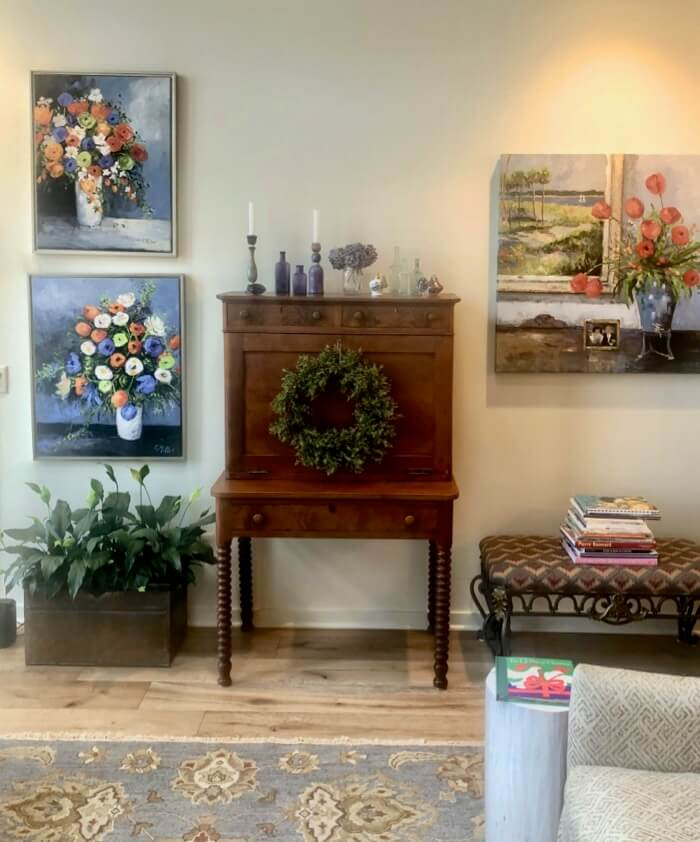 Christmas in th Sunroom photo by Kathy Miller