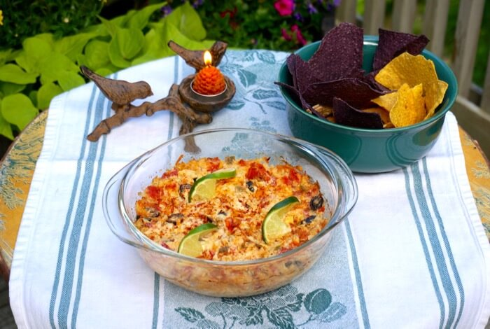 Kathy's Hot Artichoke Dip with Black Olives and Rotel's Tomato and Green Chilis photo by Kathy Miller