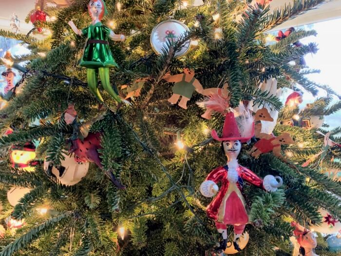 Peter Pan and Captain Hook Christopher Radko ornaments photo by Kathy Miller
