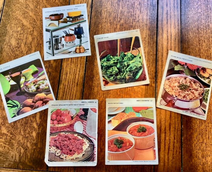 Favorite recipes from The Betty Crocker Recipe Card Library photo by Kathy Miller