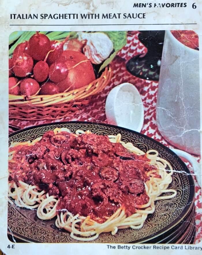 Italian Spaghetti With Meat Sauce