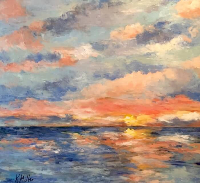 Amelia Sunrise Original painting by Kathy Miller