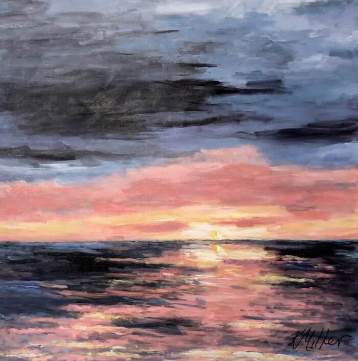 Amelia Sunrise II original painting by Kathy Miller