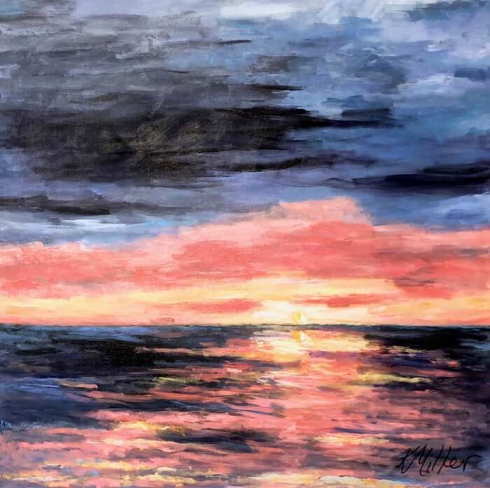 Amelia Sunrise II original painting by Kathy Miller Acrylic on canvas