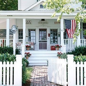 Front porch patriotic