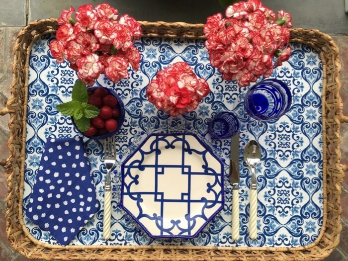 Patriotic tray place setting