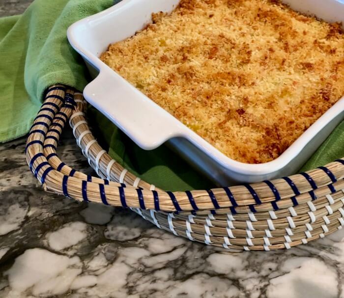 Squash Casserole with bread crumbs photo by Kathy Miller